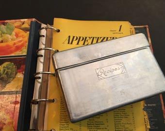 Vintage Recipe Box Recipe Card Holder Recipe Storage Aluminum Pricilla Ware Retro Recipe Box Retro Kitchen Mid Century Retro Atomic