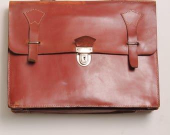 Leather briefcase brick