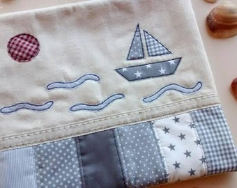 Baby Bag-baby case-baby shower pouch-infant gift-modern gift-christening-toiletries set in the sea