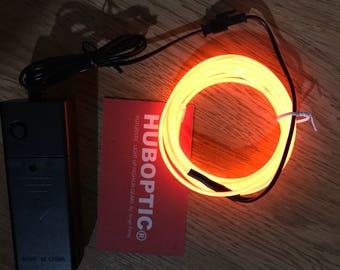 Orange EL wire 6' ft Led String for light up EL mask EL costume Light Up Robot Cyborg Masquerade Edm Cybernetic Dj Cosplay Rave