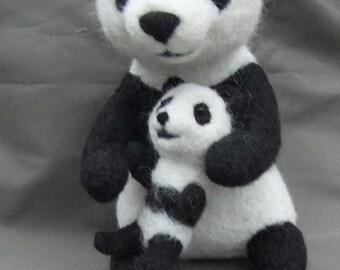 Pandas-Woolen Toy