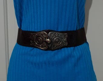 Ladies Brown Western Belt,Brown Stretch Belt