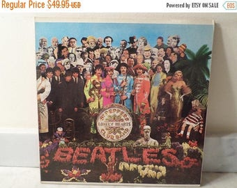 Save 30% Today Vintage 1971 LP Record The Beatles Sgt Peppers Lonely Hearts Club Band Near Mint Condition Stereo 14802