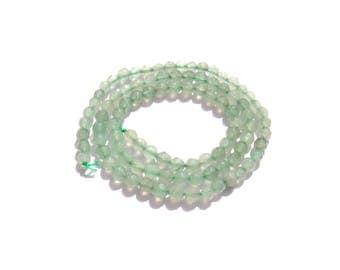 Faceted green aventurine: 10 beads 4 mm in diameter