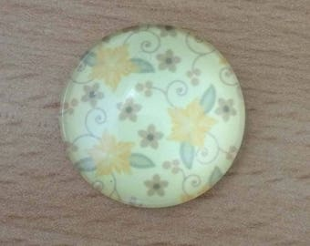 liberty pattern 01 glass cabochon pendant