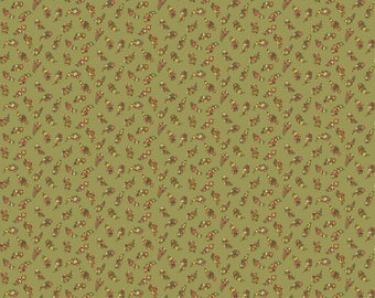 Carlisle - Floral Leaves Green 8471NG - 1/2yd