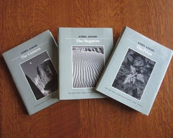 Ansel Adams Photography Book Set,Series,1980's,The Camera,Negative,Print,Ansel Adams Instructional,Black and White Film,Famous Photographers