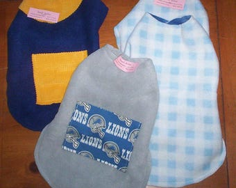 Pet Jacket .. CLEARANCE .. Size SMALL! Reversible Fleece! .. Dog or Cat
