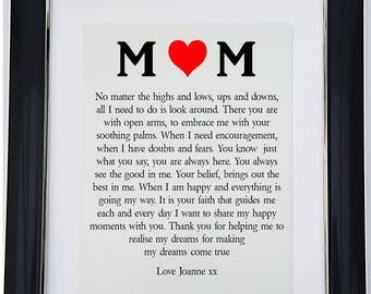 Personalised Mother Framed Poem