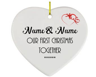 1st Christmas Together Personalised  Ceramic Ornament