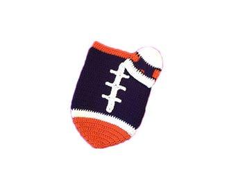 Denver Fan Favorite Baby Girl Football Cocoon & Hat (Newborn to 3 months)