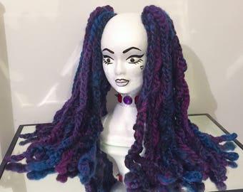 Single Ended Mermaid Knitted Wool Dread Fall Set