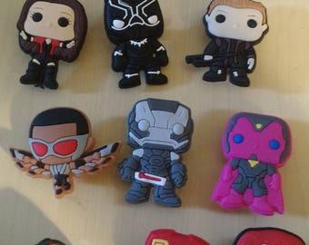 Shoe Charms - Marvel Pops