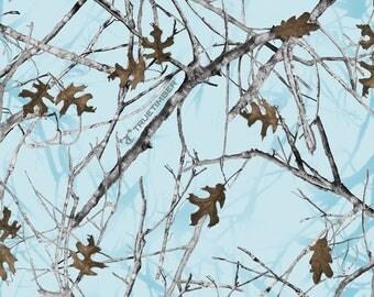 FLEECE True Timber Kanati Blue Camouflage Fabric From David Textiles