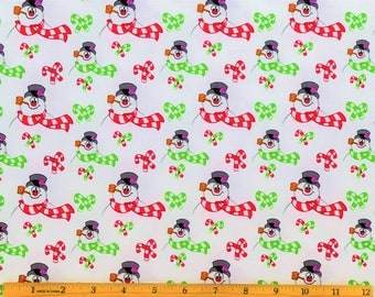 Frosty the Snowman Fabric Frosty Toss Fabric in White From Quilting Treasures 100% Cotton