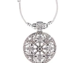 Heidi Retro Necklace - Tibetan Silver