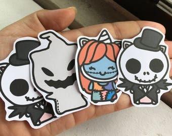 D007-Halloween Unikin die cuts- 4 die cuts