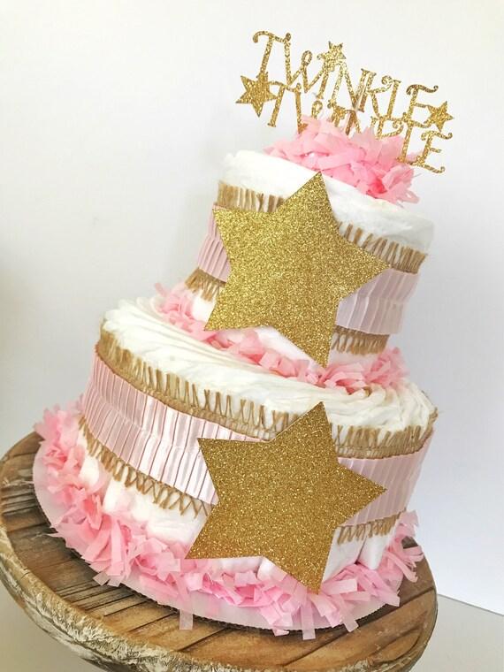 2 Tier Twinkle Twinkle Little Star Diaper Cake Twinkle