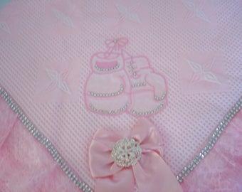 Baby shawl, christening, pram , cot, moses basket.and baby shower