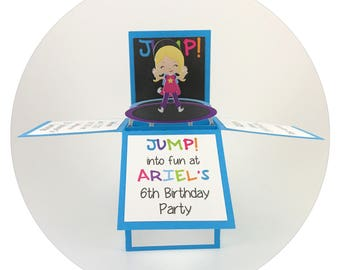 Trampoline Party Invitations, Trampoline Birthday Invitations, Trampoline Party, Jump Party Invitations, Jump Party, Unique Invitations
