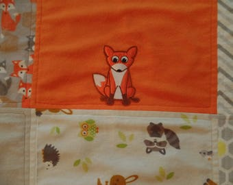 Baby Blanket with fox crib/receiving double-layer flannel, so cute