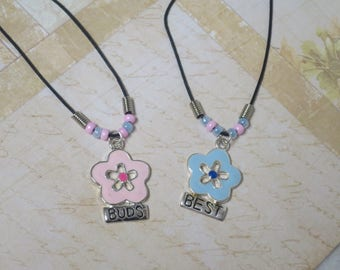 """Best """"Buds"""" Necklaces in pink and blue"""