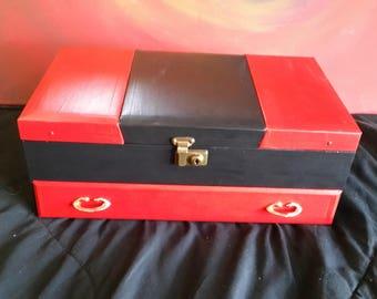 OOAK Harley Quinn Jewelry Box