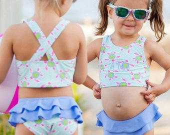 Girl's swimwear / Girl's swimsuits / Girl's 2pc swimsuits / Personalized swimsuits