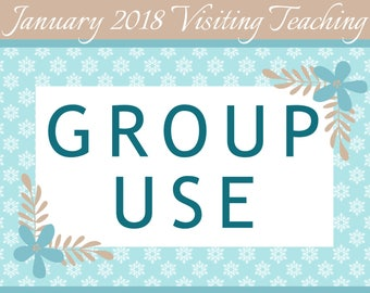 GROUP USE: January 2018 Visiting Teaching Printable Kit, Instant Download