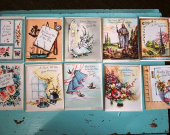 Vintage Lot of 10 Unused SECRET PAL Cards & Envelopes For Different Occasions With a Scripture