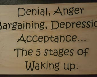 the 5 stages of waking up
