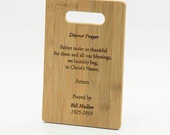 Personalized Prayer Cutting Board 11.5x8.75 - Custom Engraved Prayer Cutting Board - Family Prayer Chopping Board Your Design Cutting Board