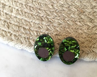 Avo-bling avocado glitter premiun stud earrings with surgical steel posts