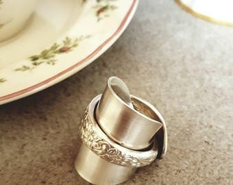 Wrap around spoon ring Narcissus Size 9