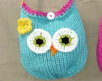Girls Owl Purse Girls Crochet Purse, Owl Purse, Minni Mouse Purse, Owl Handbag, Minnie Mouse Pocketbook, kid purse