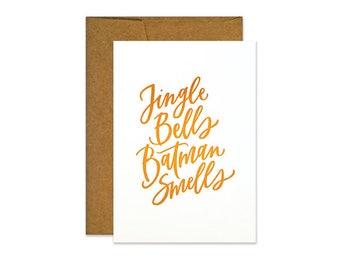 Jingle Bells Batman Smells Card