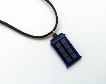 Tardis Necklace, Tardis Charm, Tardis Pendant, Geeky Gifts, Doctor Who Necklace, Doctor Who Jewelry, Sci Fi Jewelry