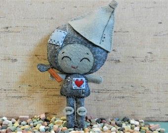 Felt Wizard of Oz Tin Man Softie Plushie Doll by Noialand