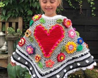 Crochet poncho crochet poncho polleviewrap poncho poncho ibizastyle children