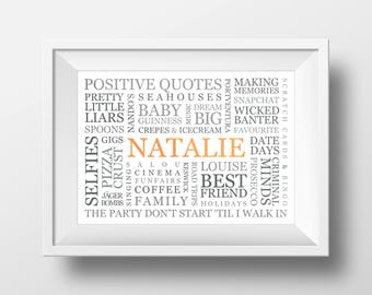 Personalised Word Art (One Font Only)