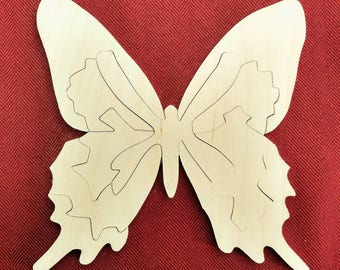 Butterfly Wood Puzzle - Color Your Own Craft Puzzle - Kids Craft Project