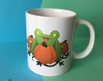 Froggoween Mug   cup drinks halloween tea coffee