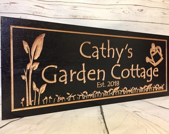 Gardening Gifts, Wooden Carved Sign, Greenhouse Signs, Outdoor Wood Sign, Garden Tools,  Garden Sheds, She Shed Sign, Vegetable garden
