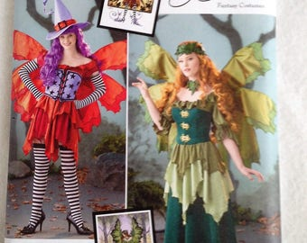 Simplicity Pattern 1550, Womans Fairy costumes, Witch costume, fairy wings pattern