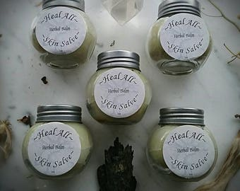Heal All Salve ~ Skin Care Salve ~ Healers Salve ~ Ointment ~ Herbal Ointment ~  2 oz