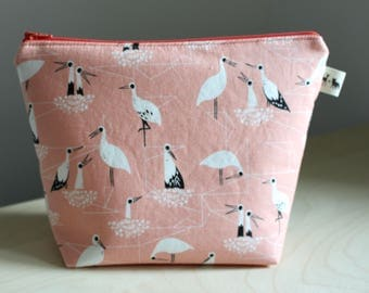 Mini Project Bag - Pink Piper