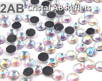 10 g Thermo 6 mm faceted Crystal AB hotfix rhinestones