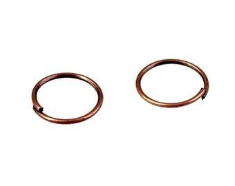 metal rings 60 g copper 1 cm