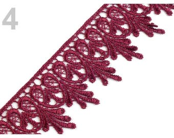 Guipure lace red 55 mm