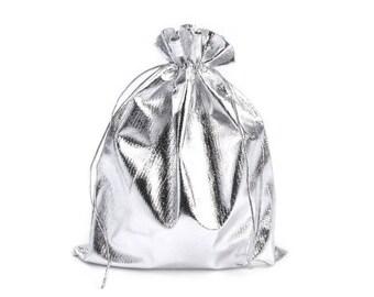 3 bag bag silver 16.5 x 20 cm